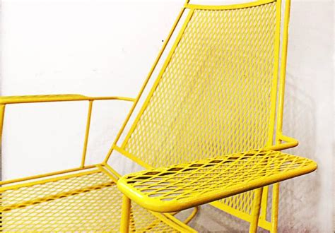 metal rocking patio chairs mid century metal mesh patio rocking chair at 1stdibs