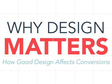 design matters why design matters
