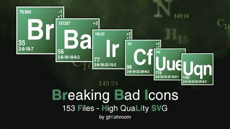 Breaking Bad Periodic Table by Breaking Bad Icons Svg By Gtkshroom On Deviantart