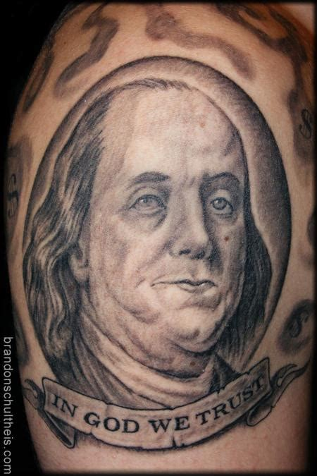 benjamin franklin tattoos ben franklin portrait by brandon schultheis tattoonow