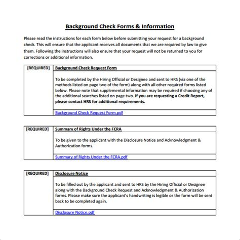 A Check Background Check Background Check Form 7 Free Documents In Pdf Word