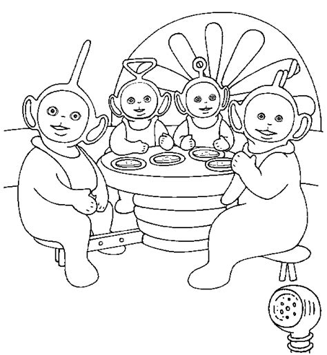 teletubbies breakfast coloring pagesfree coloring pages