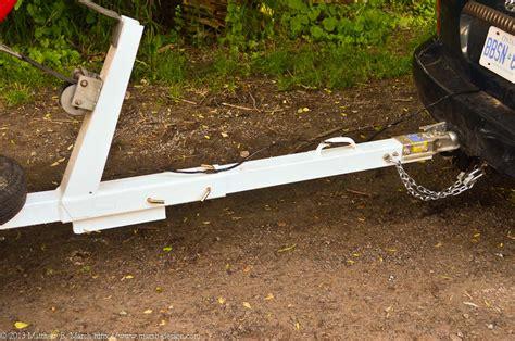 folding boat hitch design boat trailer des