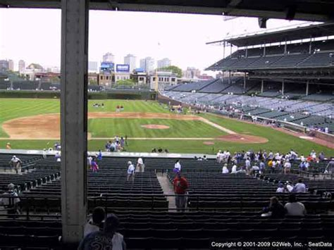 wrigley field seat views section  section