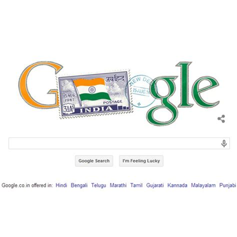 doodle for india 2014 results marks india s 68th independence day with