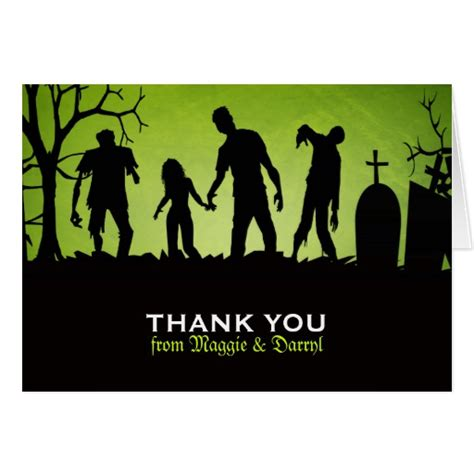 Can You Use Love To Shop Gift Card Online - zombie wedding thank you card zazzle