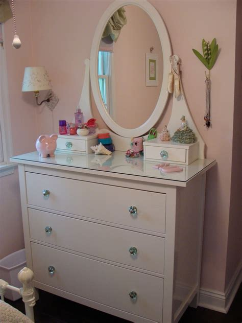 white hemnes dresser with mirror interior fair image of girl bedroom decoration using oval