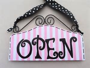 Ready to ship open closed signs for shop cute sassy boutique open