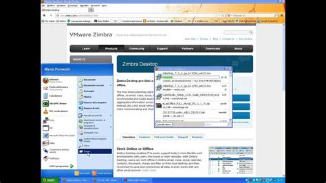 tutorial install zimbra come ottenere installare e configurare zimbra desktop