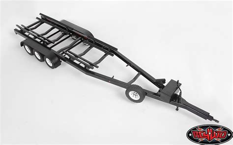 rc car and boat trailer for sale rc4wd bigdog 1 10 triple axle scale boat trailer rc car