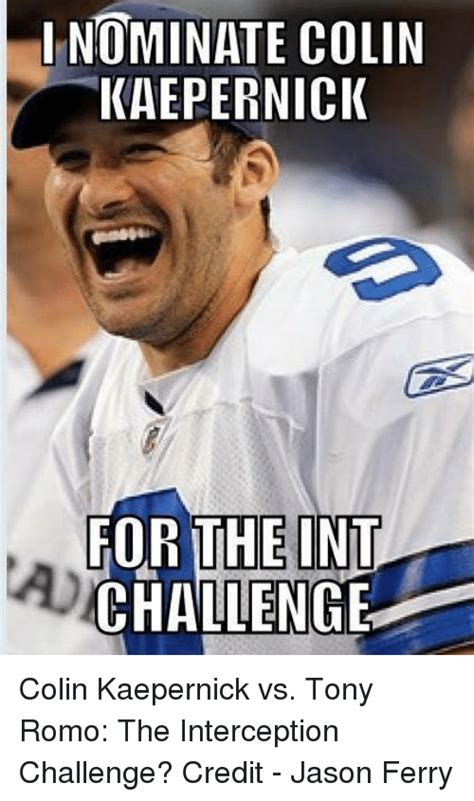Romo Interception Meme - funny colin kaepernick memes of 2017 on sizzle colin