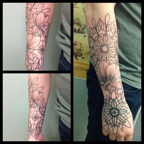half sleeve tattoos wrist to elbow best 25 forearm sleeve tattoos ideas on half