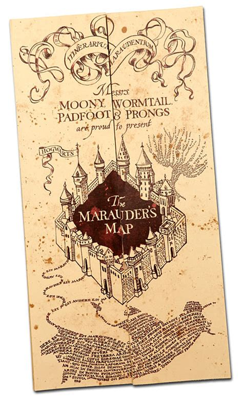 harry potter marauders map harry potter marauder s map thinkgeek