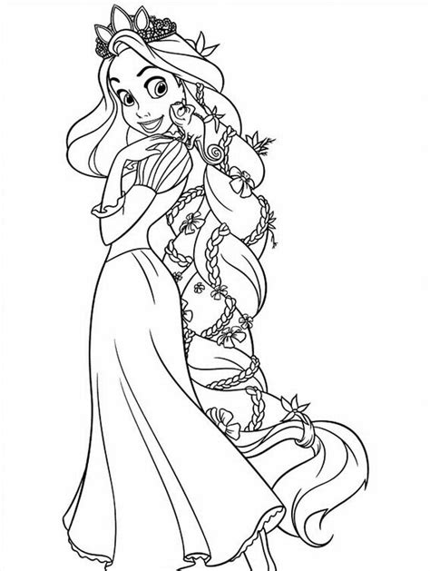 free printable tangled coloring pages for kids