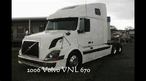 volvo trucks for sale in florida 2006 volvo vnl 670 for sale florida truck youtube