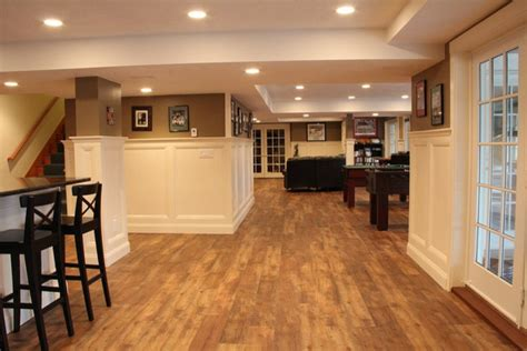 rochester luxury vinyl planks traditional basement