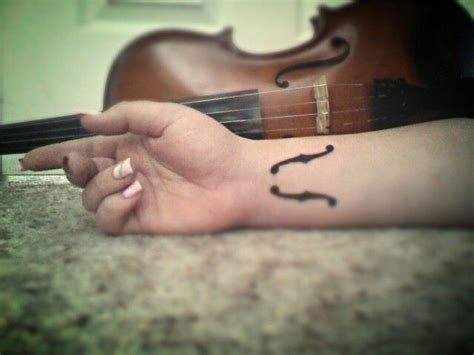 violin tattoo gallery my violin f holes tattoo