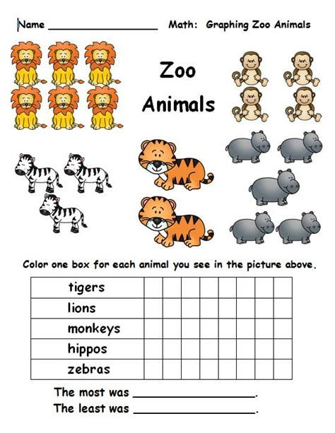 printable zoo activity sheets number names worksheets 187 zoo animals worksheet free