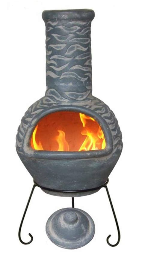 Chiminea Stove mexican clay chimenea olas blue chiminea patio heater bowl barbeque stove ebay