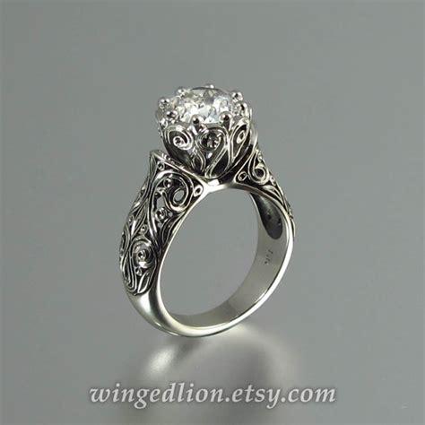 the enchanted princess 14k white gold white sapphire