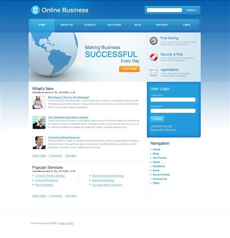 drupal templates business drupal template 25905