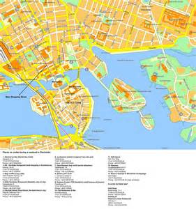 center map large detailed tourist map of stockholm city center