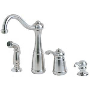 Pegasus Kitchen Faucets Parts Pfister Marielle Single Handle Side Sprayer Kitchen Faucet