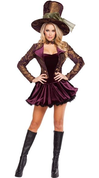 Tea Party Vixen Costume, Mad Hatter Costume, Alice in ... Female Mad Hatter Costume