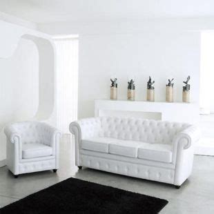 canapé chesterfield maison du monde fauteuil aspect cuir blanc capitonn 233 chesterfield