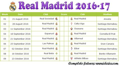 Real Madrid Calendar Search Results For Real Madrid 2016 Schedule Calendar 2015