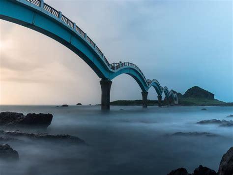 photo  sanxiantai dragon bridge taiwan hd wallpapers wallpapers  high