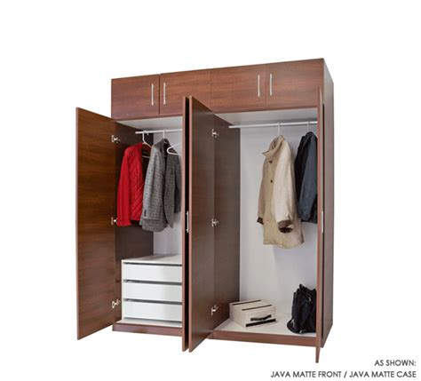 Hanging Wardrobe Closet 8 Door Set Of Hanging And 3 Interior Drawers Wardrobe