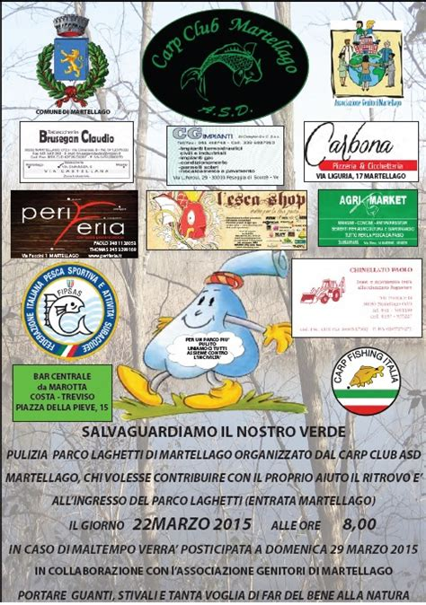 Calendario G Martell 4 176 Giornata Ecologica Carp Club Martellago