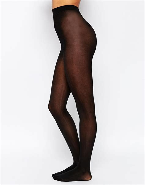 sheer tights lyst leg avenue opaque sheer tights in black