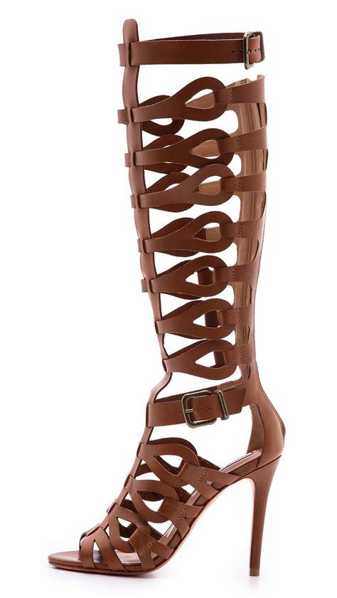 Sandal Gladiator Pria 19 lyst schutz eirini cutout gladiator sandals in brown