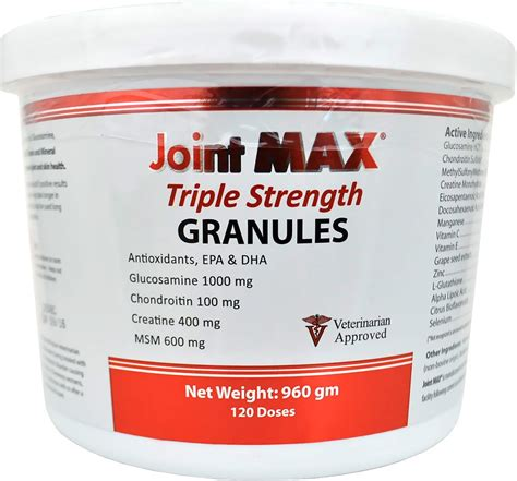 Suplemen Joint Max joint max strength granules for dogs 120 doses