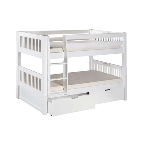 Annoying Bunk Bed White Bunk Bed With Bottom Storage Drawers And Ladder Bunks Pinterest