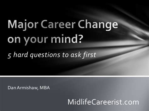One Year Mba Career Change by Major Career Change