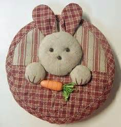 Patchwork Rabbit Pattern - japanese patchwork on patchwork appliques and