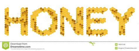 honeycomb pattern font honey yellow honeycomb letters stock illustration image