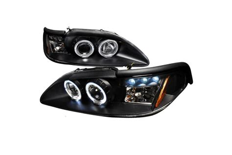 1994 ford mustang headlights spec d tuning 174 ford mustang 1994 1998 halo black projector