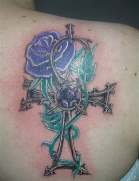 egyptian cross with rose tattoo by bassefreak on deviantart