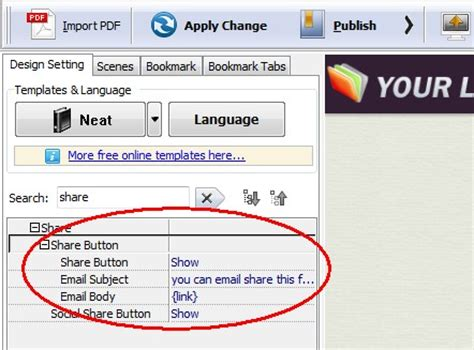 how to insert email button into your flip publication [a