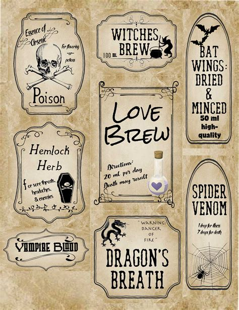 printable apothecary labels free printable halloween apothecary labels 16 designs