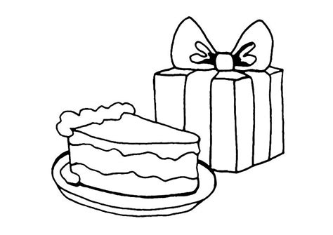 easy birthday coloring pages cake colouring pages