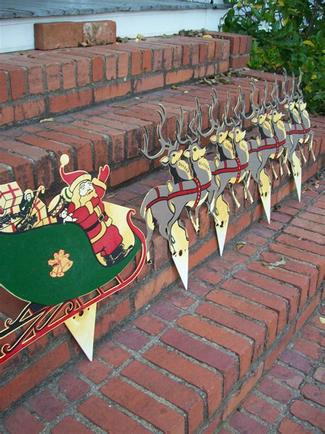 vintage christmas decorations farmhouse yard decor lawn santa