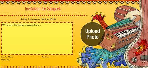 Dholki Invitation Cards Template by Free Sangeet Mehndi Ceremony Invitation Card
