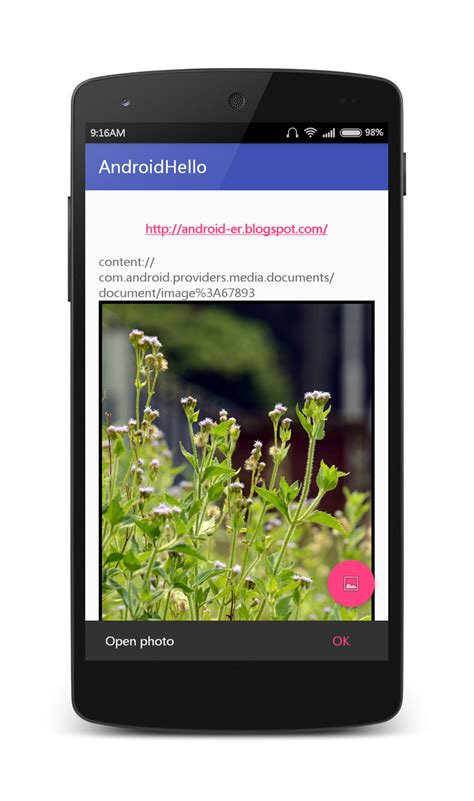 layout xml imageview android er hello world to open photo using intent action