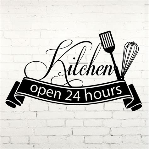 haircut express hours ins hot sale cuisine wall sticker open 24 hours kitchen