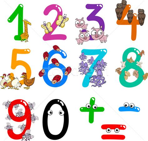 numeri clipart numbers with animals vector illustration 169 igor